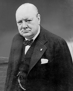 Winston Churchill -- Behind but not below average.