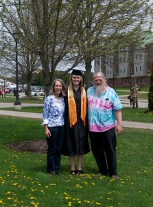 Hannah Schurr with her Parents.