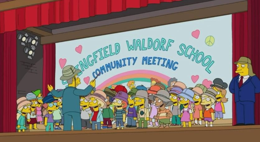 The Simpsons on Waldorf