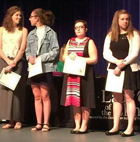 Sophia Kostoff pictured, third from left, at award ceremony.